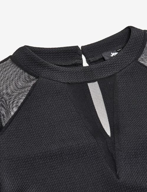 robe empiècements résille noire