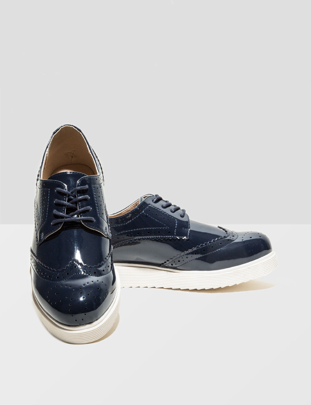 Black patent derby shoes Black patent derby shoes