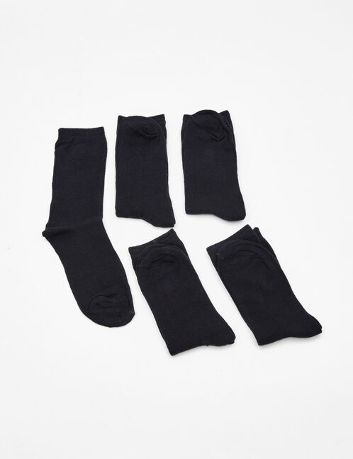 Basic black mid-length socks
