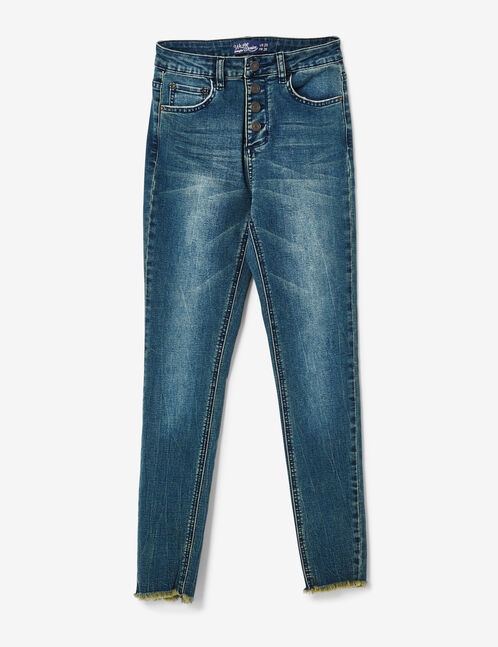 jean skinny taille haute medium blue