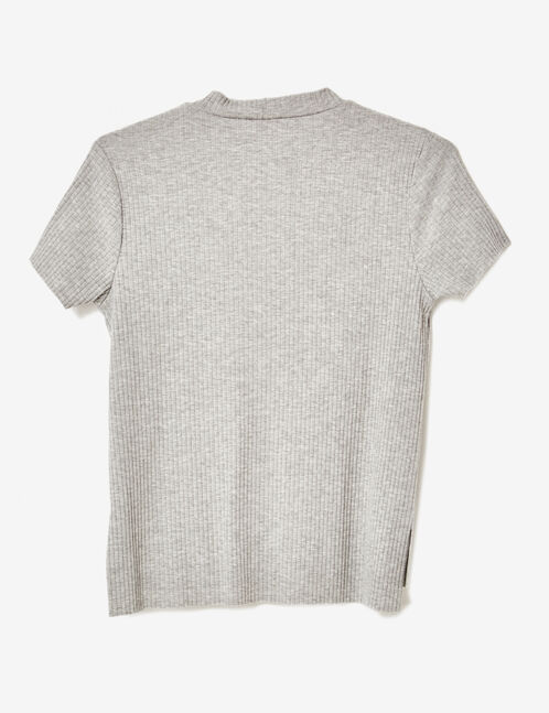 Grey marl top with cut-out detail
