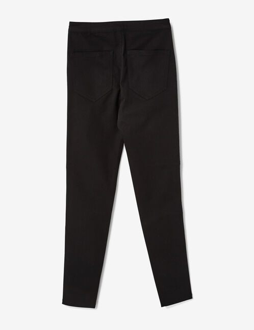 Black super high-waisted jeggings