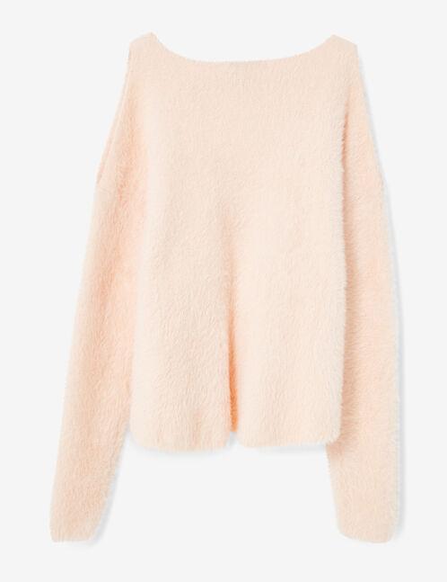 Light pink cold shoulder jumper