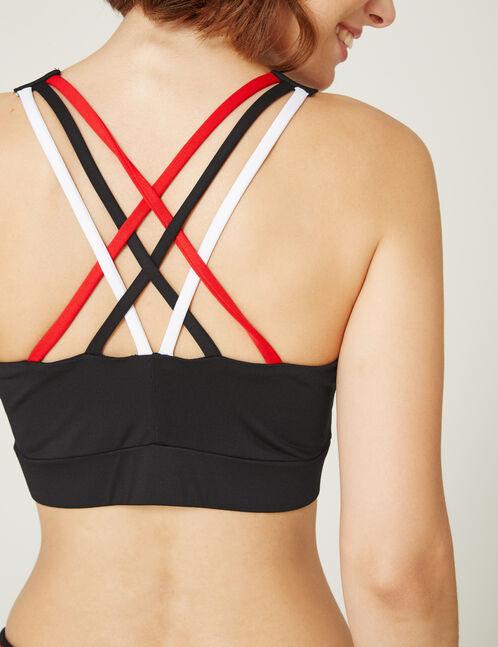 Black fitness bra