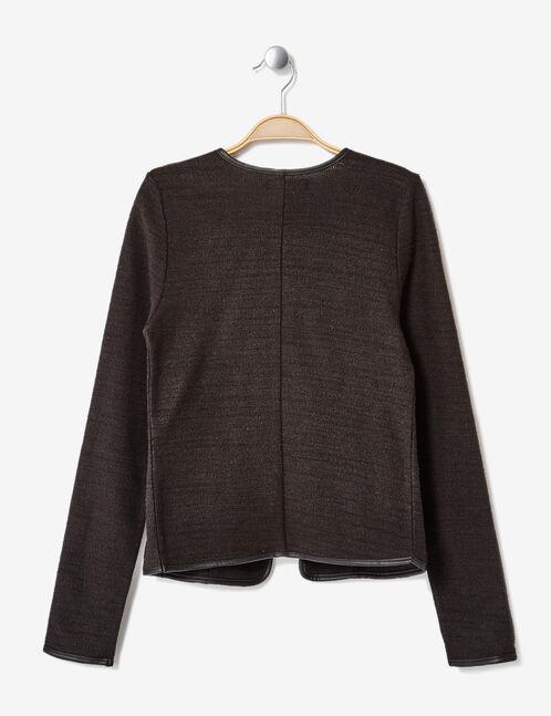 Black open-front jacket