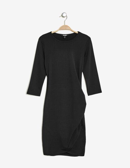 robe effet drapé noire