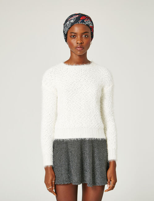 Cream popcorn knit jumper