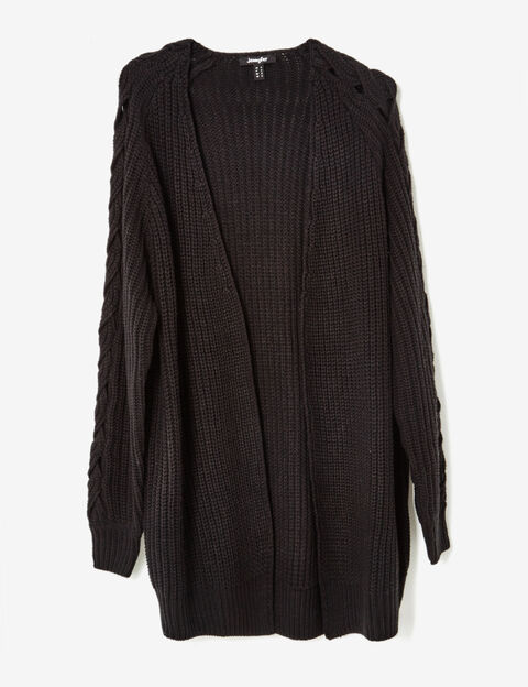 pull femme maille cardigan gilet long jennyfer. Black Bedroom Furniture Sets. Home Design Ideas