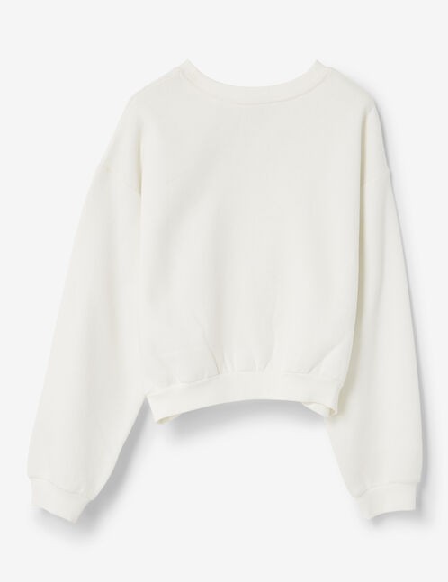 sweat à message écru