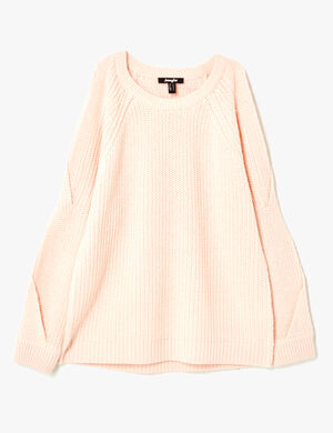 pull manches ouvertes rose clair