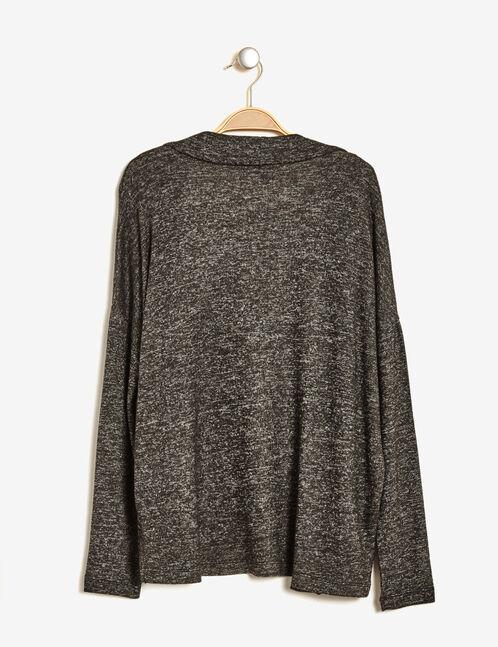 Charcoal grey marl cardigan with pockets