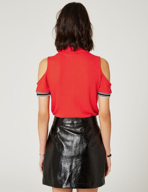 tee-shirt esprit polo rouge