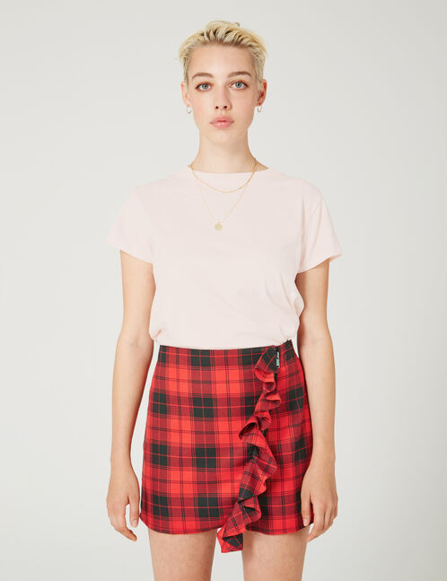 tee-shirt basic rose clair