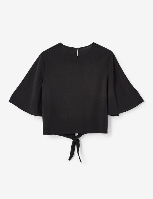 blouse à nouer noire