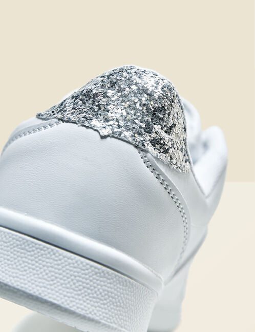 White trainers with sparkly detail
