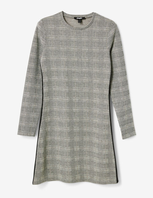 Grey glen check dress