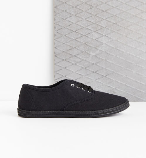 Black basic trainers