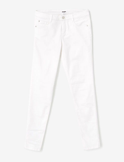 White skinny push-up trousers