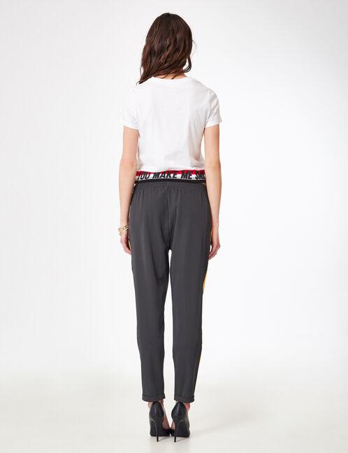 pantalon ville à pinces gris anthracite