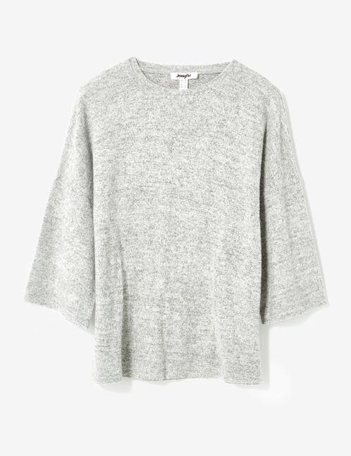 tee-shirt resserré dos gris chiné