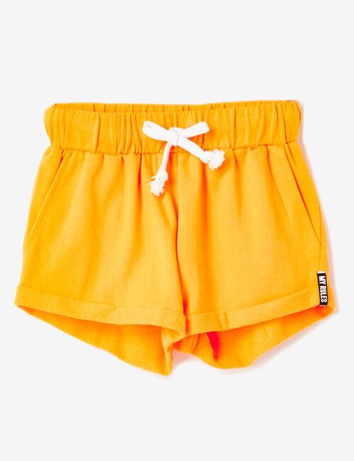 short molleton mandarine