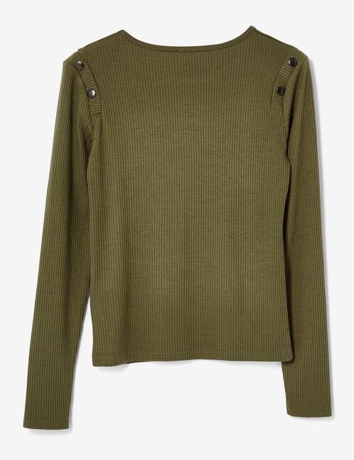 Khaki top with button detail