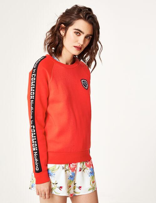 Red text design sweatshirt