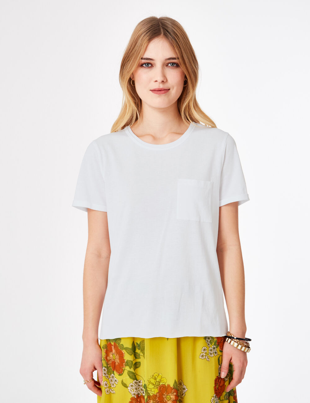 tee shirt basic blanc femme jennyfer. Black Bedroom Furniture Sets. Home Design Ideas
