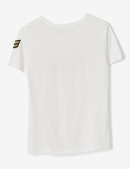 """Cream """"peachy"""" T-shirt"""