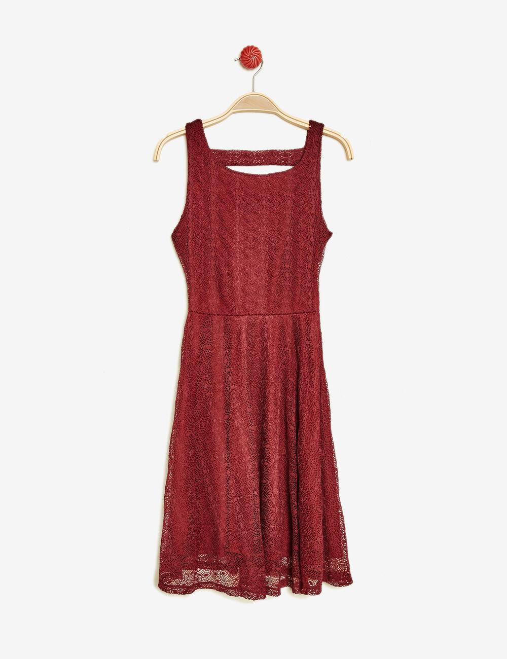 robe dentelle sans manches bordeaux femme jennyfer. Black Bedroom Furniture Sets. Home Design Ideas
