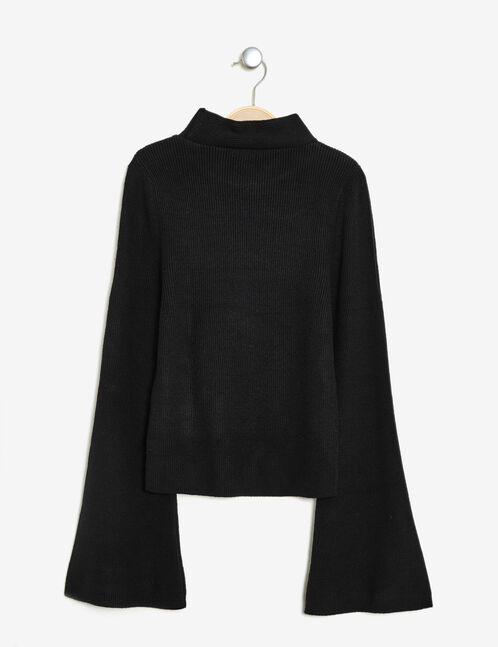 pull manches pagodes noir