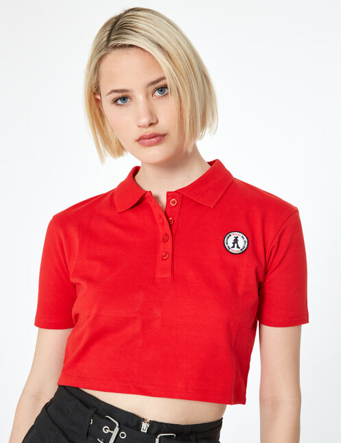 Top polo rouge