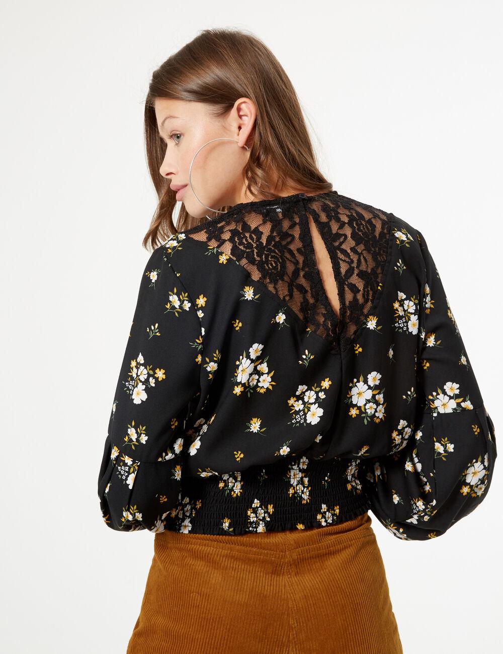 site réputé 70c84 2c3ac blouse fleurie smockée