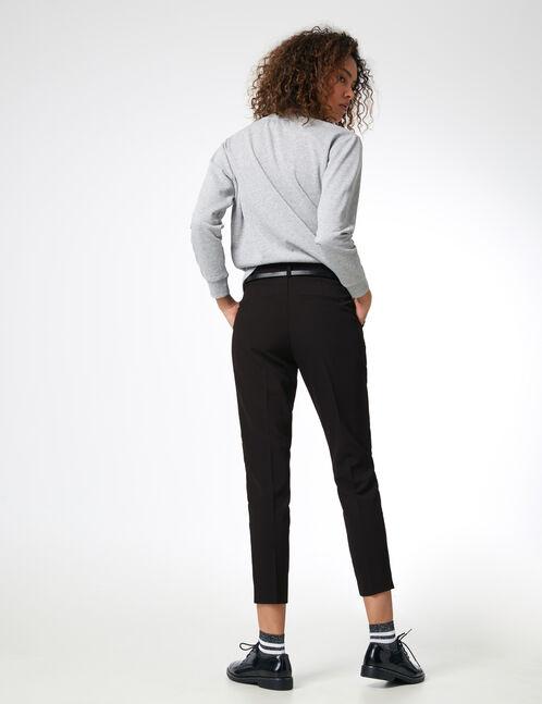 pantalon ville avec ceinture noir