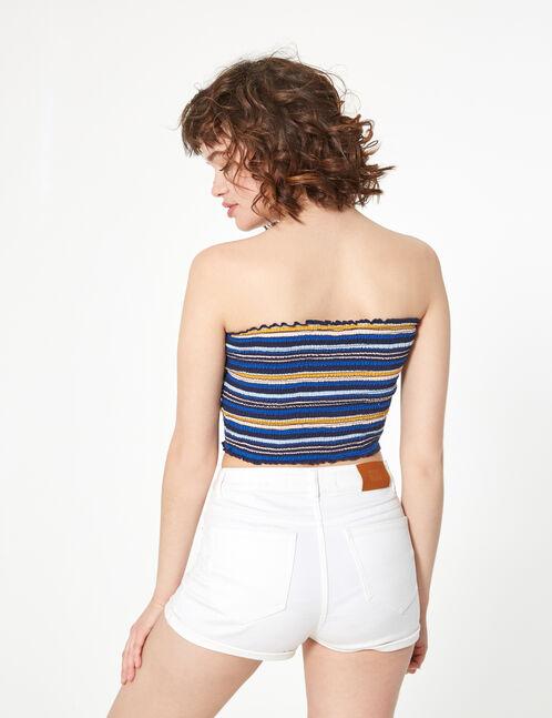 striped smock bra