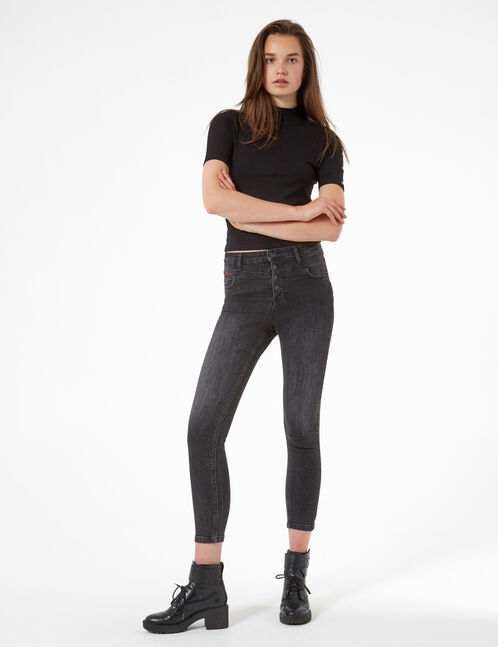 Black jeans with cutouts