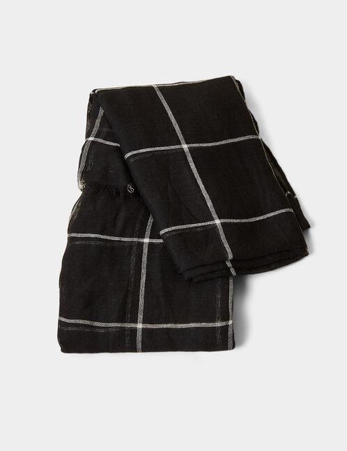 Black checked scarf