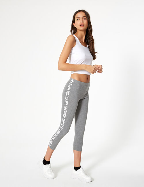 Legging messages côtés gris anthracite
