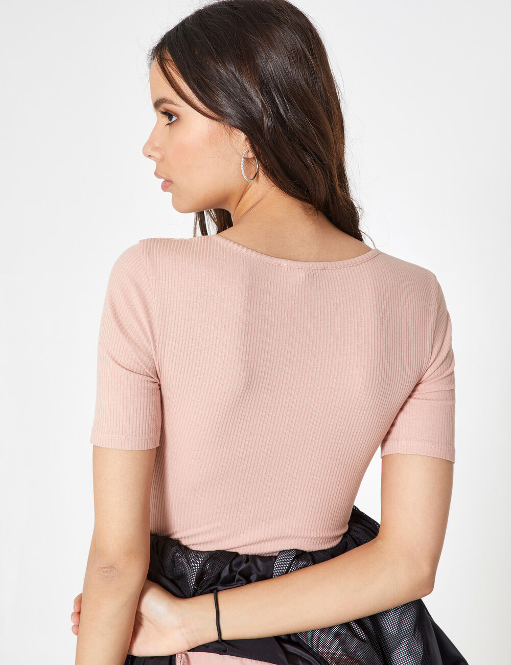 Light pink bodysuit with lacing detail woman • Jennyfer f6da99a73