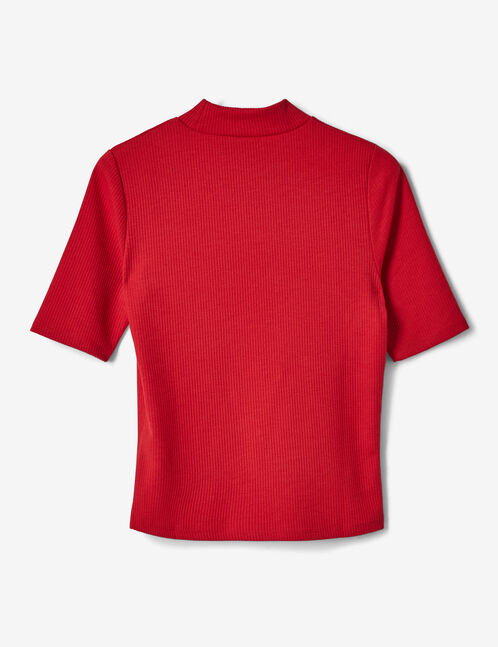 Red T-shirt with rhinestone detail