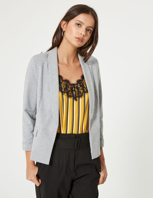blazer gris chiné