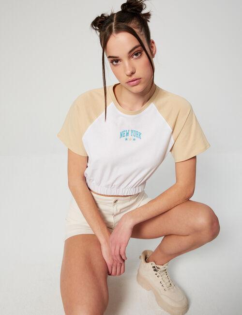 Tee-shirt bicolore New York