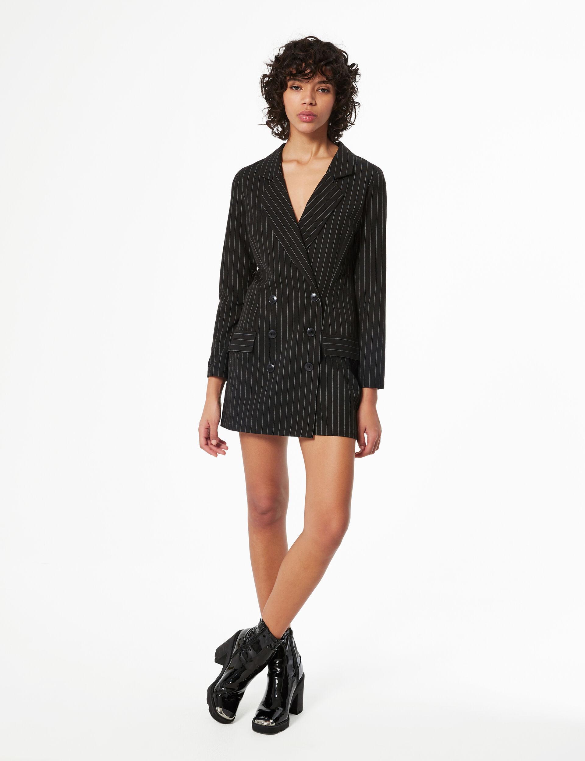 Striped blazer playsuit