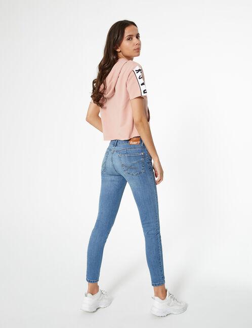 Blue low-rise push-up jeans