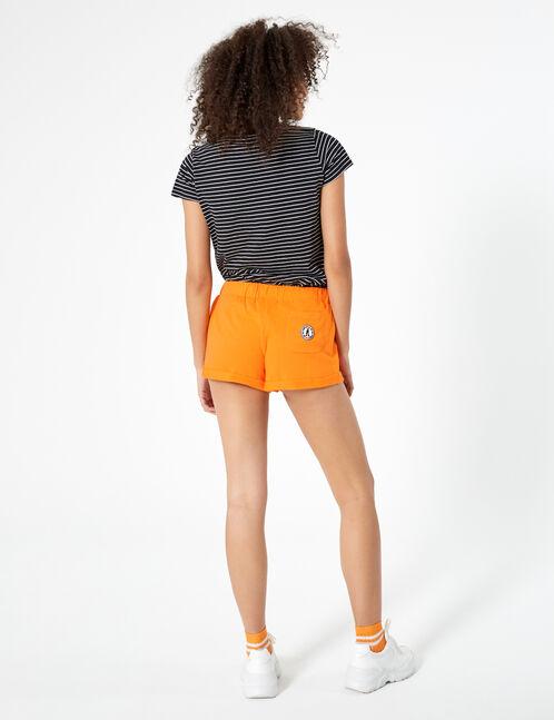 short molleton basic orange