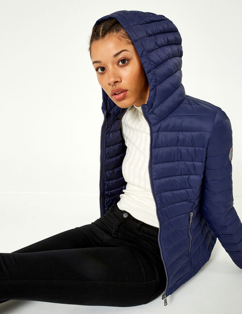 Navy blue lightweight padded jacket