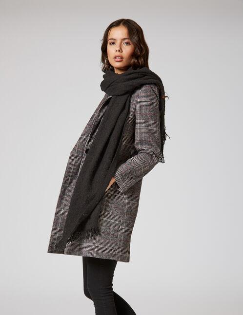 écharpe texturée noire