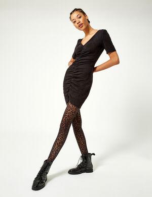 robe suédine noir