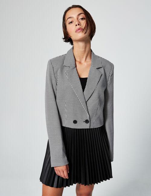 Veste blazer courte imprimée