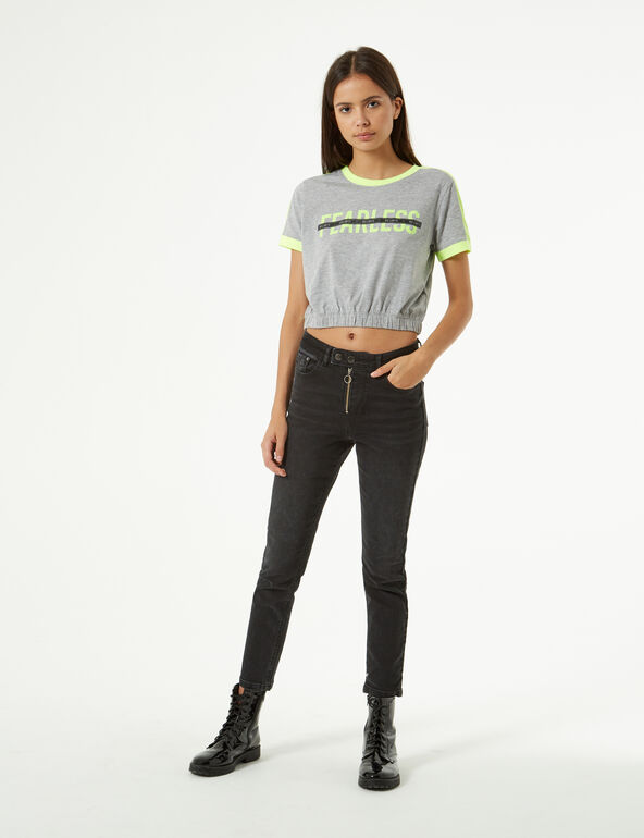 Fearless elastic t-shirt